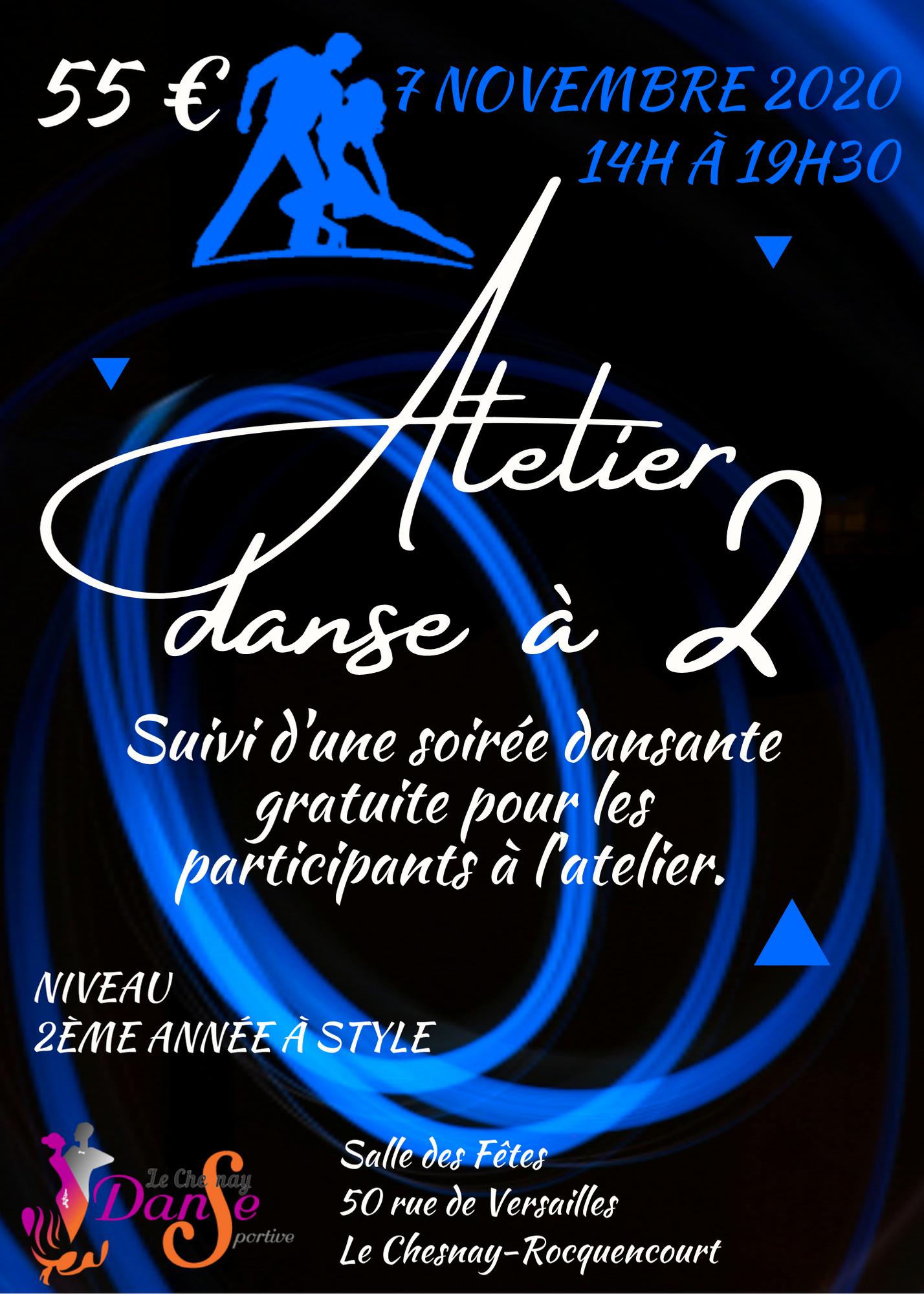 Atelier danse à 2 le 7 novembre 2020