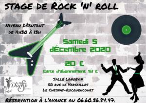Stage de Rock – déc 2020