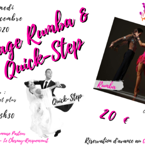 Stage de Rumba et Quick-Step – 12 décembre 2020