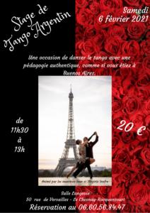 4 Stage de Tango Argentin – février 2021