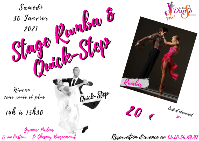 Stage de Rumba et Quick-Step – janv 2021